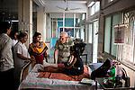 Father Laborde visits the Hospital of Asha Neer. Howrah. West Bengal, India, Arindam Mukherjee/Agency Genesis