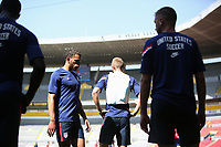 GUADALAJARA, MEXICO - MARCH 18: USMNT players before a game between Costa Rica and USMNT U-23 at Estadio Jalisco on March 18, 2021 in Guadalajara, Mexico.