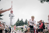 Sportmanship: Michal Kwiatkowski (POL/SKY) awaits heavily crashed (& bruised) countryman Rafał Majka (POL/BORA-hansgrohe) on top of the Mont du Chat (HC/8.7km/10.3%) to descent together towards the finish<br /> <br /> 104th Tour de France 2017<br /> Stage 9 - Nantua › Chambéry (181km)