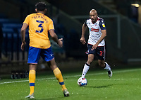Bolton Wanderers' Alex John-Baptiste competing with Mansfield Town's Malvind Benning (left) <br /> <br /> Photographer Andrew Kearns/CameraSport<br /> <br /> The EFL Sky Bet League Two - Bolton Wanderers v Mansfield Town - Tuesday 3rd November 2020 - University of Bolton Stadium - Bolton<br /> <br /> World Copyright © 2020 CameraSport. All rights reserved. 43 Linden Ave. Countesthorpe. Leicester. England. LE8 5PG - Tel: +44 (0) 116 277 4147 - admin@camerasport.com - www.camerasport.com