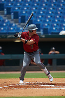 David Wayne Lewis (17) of Blue Ridge HS in Travelers Rest, SC playing for the Arizona Diamondbacks scout team during the East Coast Pro Showcase at the Hoover Met Complex on August 2, 2020 in Hoover, AL. (Brian Westerholt/Four Seam Images)