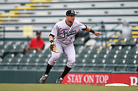 Jupiter Hammerheads first baseman Viosergy Rosa (35) during a game against the Bradenton Marauders on April 17, 2014 at McKechnie Field in Bradenton, Florida.  Bradenton defeated Jupiter 2-1.  (Mike Janes/Four Seam Images)