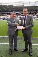 Pictured: Huw Jenkins (R).<br /> Sunday 19 May 2013<br /> Re: Barclay's Premier League, Swansea City FC v Fulham at the Liberty Stadium, south Wales.