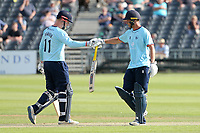 Simon Harmer and Tom Westley in batting action for Essex during Gloucestershire vs Essex Eagles, Royal London One-Day Cup Cricket at the Bristol County Ground on 3rd August 2021