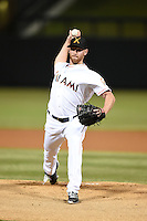 Salt River Rafters pitcher Anthony DeSclafani (28) during an Arizona Fall League game against the Peoria Javelinas on October 17, 2014 at Salt River Fields at Talking Stick in Scottsdale, Arizona.  The game ended in a 3-3 tie.  (Mike Janes/Four Seam Images)