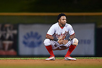 Mesa Solar Sox center fielder Victor Robles (14), of the Washington Nationals organization, during an Arizona Fall League game against the Scottsdale Scorpions on October 23, 2017 at Scottsdale Stadium in Scottsdale, Arizona. The Solar Sox defeated the Scorpions 5-2. (Zachary Lucy/Four Seam Images)