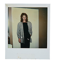 """BNPS.co.uk (01202) 558833. <br /> Pic: PropStore/BNPS<br /> <br /> Pictured: A continuity Polaroid photograph of Kelly McGillis as """"Charlie"""" is included in the sale. <br /> <br /> Costume props and behind-the-scenes photos from the classic Tom Cruise movie Top Gun are coming up for sale.<br /> <br /> The archive includes the white vest worn by Goose, the partner of Tom Cruise's character Pete 'Maverick' Mitchell, during the famous beach volleyball scene. <br /> <br /> There is also the flight suit worn by Maverick's Top Gun rival, Tom 'Iceman' Kazansky, played by Val Kilmer in the 1986 film."""
