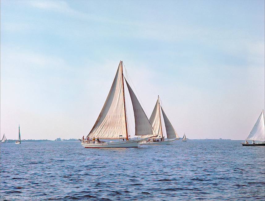 "Chesapeake Bay workboat Rosie Parks was the Queen of the fleet, attributable to her beauty and speed. Photograph from the restored, Limited Edition Skipjack print in the Fine Art ""Skipjack Sunday"" collection."