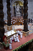 Pope Francis  the priests ordination mass in Saint Peter's Basilica at the Vatican on April 22, 2018.