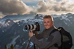 Photographer Art Wolfe on location, North Cascades, Washington, USA