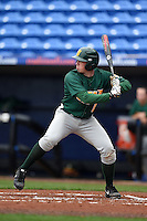 Siena Saints infielder Jordan Bishop (4) at bat during the second game of a doubleheader against the Michigan Wolverines on February 27, 2015 at Tradition Field in St. Lucie, Florida.  Michigan defeated Siena 6-0.  (Mike Janes/Four Seam Images)