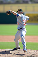 Mesa Solar Sox pitcher Matt Loosen (35), of the Chicago Cubs organization, during an Arizona Fall League game against the Glendale Desert Dogs on October 8, 2013 at Camelback Ranch Stadium in Glendale, Arizona.  The game ended in an 8-8 tie after 11 innings.  (Mike Janes/Four Seam Images)