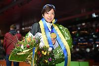 SPEEDSKATING, HEERENVEEN: 24-02-2019, IJsstadion Thialf, ISU World Sprint Speed Skating Championships, Nao Kodaira, ©photo Martin de Jong