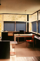 Gerrit Rietveld: Schroder House. Same view with blinds closed.