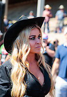 Jul 21, 2019; Morrison, CO, USA; TV/movie actress Carmen Electra in attendance of the NHRA Mile High Nationals at Bandimere Speedway. Mandatory Credit: Mark J. Rebilas-USA TODAY Sports