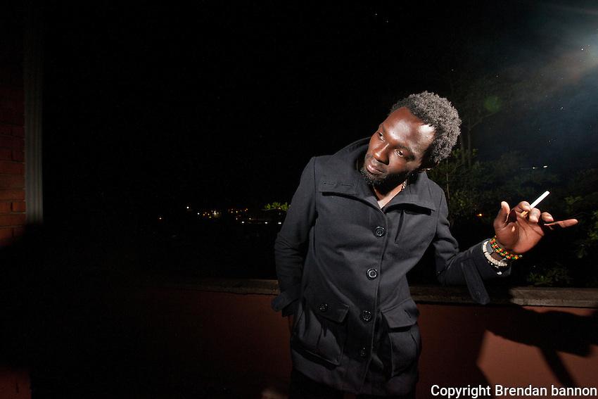 Evans Ndega, 26, a part-time model