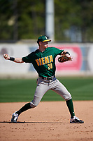 Siena Saints Tim Carroll (28) during practice before a game against the UCF Knights on February 17, 2019 at John Euliano Park in Orlando, Florida.  UCF defeated Siena 7-1.  (Mike Janes/Four Seam Images)