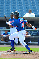 First baseman Bobby Bradley (44) of Harrison Central High School in Gulfport, Mississippi playing for the New York Mets scout team during the East Coast Pro Showcase on July 31, 2013 at NBT Bank Stadium in Syracuse, New York.  (Mike Janes/Four Seam Images)