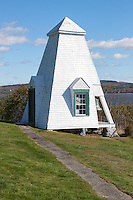 The original fog signal bell at Fort Point Light in Stockton Springs, Maine.