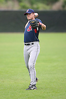 March 20th 2008:  Garrison Campfield of the Cleveland Indians minor league system during Spring Training at Chain of Lakes Training Complex in Winter Haven, FL.  Photo by:  Mike Janes/Four Seam Images