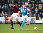 Hearts v St Johnstone…05.11.16  Tynecastle   SPFL<br />Brian Easton and Bjorn Johnsen<br />Picture by Graeme Hart.<br />Copyright Perthshire Picture Agency<br />Tel: 01738 623350  Mobile: 07990 594431
