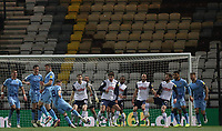 29th December 2020; Deepdale Stadium, Preston, Lancashire, England; English Football League Championship Football, Preston North End versus Coventry City; Jamie Allen of Coventry City shoots through a packed penalty area