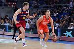 Valencia Basket's Luke Sikma and FCB Lassa's Aleksandar Vezenkov during Semi Finals match of 2017 King's Cup at Fernando Buesa Arena in Vitoria, Spain. February 18, 2017. (ALTERPHOTOS/BorjaB.Hojas)