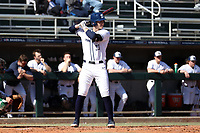 CARY, NC - FEBRUARY 23: Justin Williams #33 of Penn State University waits for a pitch during a game between Wagner and Penn State at Coleman Field at USA Baseball National Training Complex on February 23, 2020 in Cary, North Carolina.
