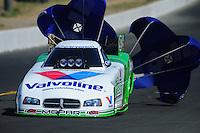 Jul. 30, 2011; Sonoma, CA, USA; NHRA funny car driver Jack Beckman during qualifying for the Fram Autolite Nationals at Infineon Raceway. Mandatory Credit: Mark J. Rebilas-