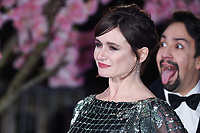 """Emily Mortimer and Lin-Manuel Miranda<br /> arriving for the """"Mary Poppins Returns"""" premiere at the Royal Albert Hall, London<br /> <br /> ©Ash Knotek  D3467  12/12/2018"""