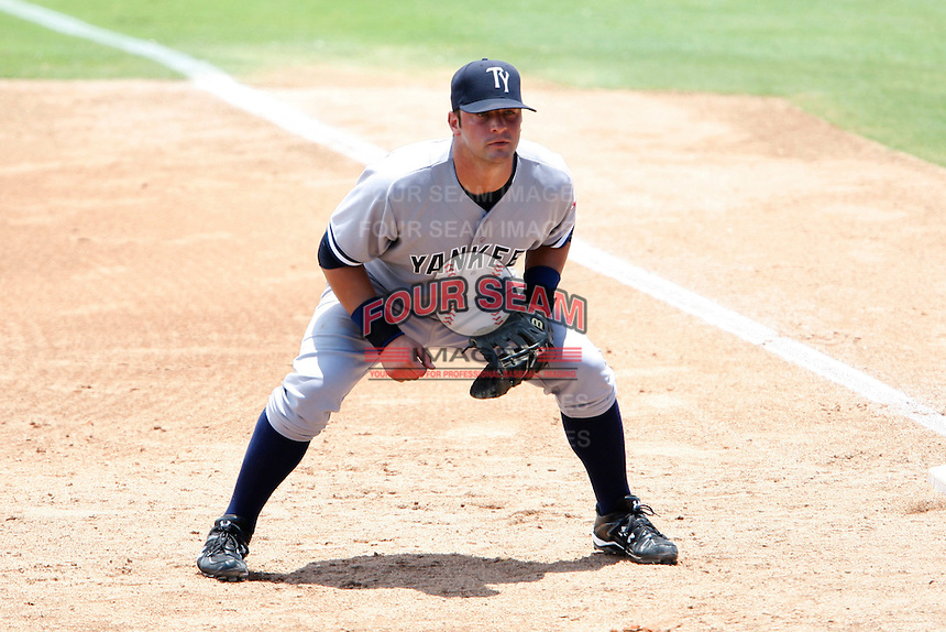 July 12, 2009:  First Baseman Kevin Smith of the Tampa Yankees during a game at Dunedin Stadium in Dunedin, FL.  Tampa is the Florida State League High-A affiliate of the New York Yankees.  Photo By Mike Janes/Four Seam Images