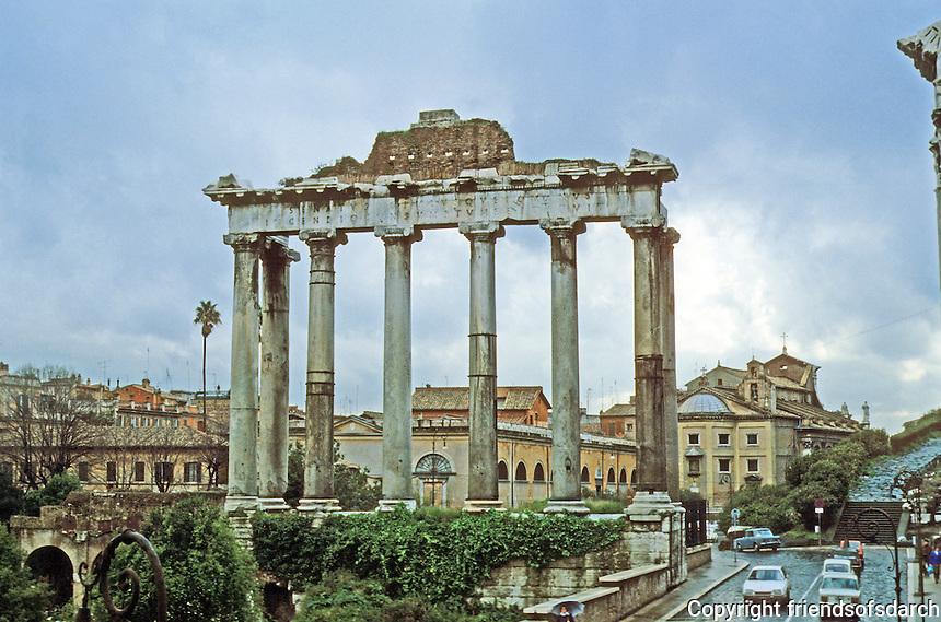 Italy: Rome--Temple of Saturn, 3rd C. Columns of granite.