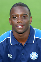 Nathan Ashton of Wycombe Wanderers, former Charlton and Fulham player who represented England at U19 level during Stevenage Borough vs Wycombe Wanderers, Friendly Match Football at Broadhall Way on 25th July 2008