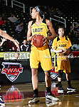 Grambling State Lady Tigers forward/center Secrett Anderson (23) in action during the SWAC Tournament game between the Alcorn State Braves and the Grambling State Tigers at the Special Events Center in Garland, Texas. Grambling State defeats Alcorn State 72 to 63.