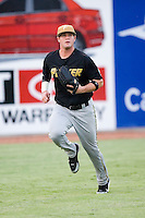 West Virginia left fielder Matt LaPorta (33) on defense versus Hickory at L.P. Frans Stadium in Hickory, NC, Friday, August 24, 2007.