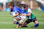 South Korea plays Uzbekistan during the17th Asian Games 2014 Rugby Womens Sevens tournament on October 01, 2014 at the Namdong Asiad Rugby Field in Incheon, South Korea. Photo by Alan Siu / Power Sport Images
