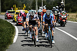The 13 man breakaway group during Stage 8 of Tour de France 2020, running 141km from Cazeres-sur-Garonne to Loudenvielle, France. 5th September 2020. <br /> Picture: ASO/Pauline Ballet | Cyclefile<br /> All photos usage must carry mandatory copyright credit (© Cyclefile | ASO/Pauline Ballet)