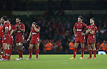 Dejected Welsh players Taulupe Faletau, Leigh Halfpenny, Mike Phillips and Rhys Webb at the final whistle.<br /> Dove men Series 2014<br /> Wales v New Zealand<br /> 22.11.14<br /> ©Steve Pope -SPORTINGWALES