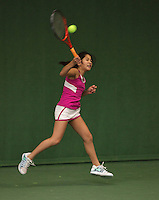 20131201,Netherlands, Almere,  National Tennis Center, Tennis, Winter Youth Circuit, Lian Tran  <br /> Photo: Henk Koster