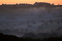 03/10/16 <br /> <br /> After temperatures plunge to around zero degrees dawn breaks over the Ecclesbourne near Wirksworth in the Derbyshire Dales this morning. <br /> <br /> All Rights Reserved: F Stop Press Ltd. +44(0)1773 550665   www.fstoppress.com