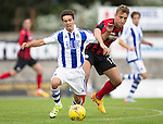 St Johnstone v Real Sociadad...12.07.15  Bayview, Methil (Home of East Fife FC)<br /> Eneko Caoilla is brought down by Ally Gilchrist<br /> Picture by Graeme Hart.<br /> Copyright Perthshire Picture Agency<br /> Tel: 01738 623350  Mobile: 07990 594431