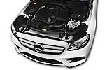 Car Stock 2016 Mercedes Benz E-Klasse Sportline 4 Door Sedan Engine  high angle detail view