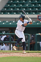Detroit Tigers Trei Cruz (71) bats during a Florida Instructional League game against the Toronto Blue Jays on October 28, 2020 at Joker Marchant Stadium in Lakeland, Florida.  (Mike Janes/Four Seam Images)