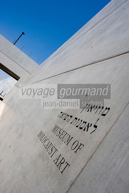 Asie/Israël/Judée/Jérusalem: Yad Vashem le Musée Mémorial créé en mémoire aux victimes de l'Holocauste -Architecte: Moshé Sfadie -Musée d'Art de l'Holocauste