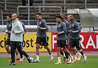 Nico Schulz (Deutschland Germany), Julian Draxler (Deutschland, Germany), Mahmoud Dahoud (Deutschland Germany), Jonathan Tah (Deutschland Germany) beim Warmlaufen <br /> - 05.10.2020: Training der Deutschen Nationalmannschaft, Suedstadion Koeln<br /> DISCLAIMER: DFB regulations prohibit any use of photographs as image sequences and/or quasi-video.