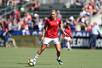 Cary, NC - Sunday October 22, 2017: Allie Long prior to an International friendly match between the Women's National teams of the United States (USA) and South Korea (KOR) at Sahlen's Stadium at WakeMed Soccer Park. The U.S. won the game 6-0.
