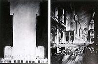 H.W. Corbett:  Traffic Segregation--late 1920's ?  Koolhaas, p. 103.
