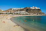 Spain, Gran Canaria, Puerto Rico: Playa de Amadores |Spanien, Gran Canaria, Puerto Rico: Playa de Amadores