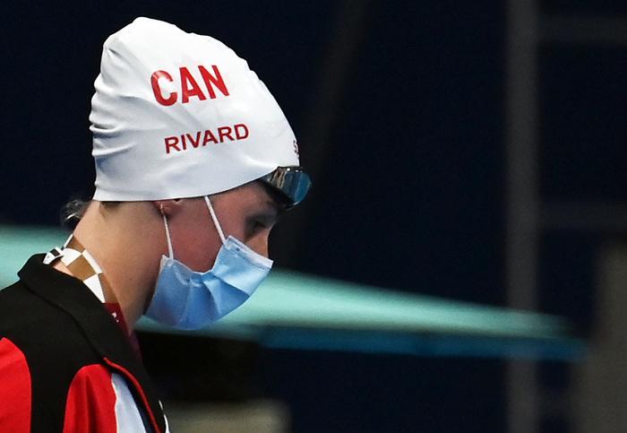 Aurelie Rivard, Tokyo 2020 - Para Swimming / Paranatation.<br /> Aurelie Rivard wins silver in the Women's 100m back - S10 Final // Aurélie Rivard gagne l'argent au 100m nage a dos féminin - Finale S10. 09/1/2021.