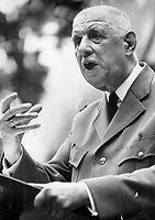 July 1967 FILE -<br /> <br /> The giant of France, soldier-statesman Charles de Gaulle, when he arrived in Quebec city in 1967 for an official visit during Expo. His triumphant cavalcade through Quebec ended abruptly when Ottawa chided him for his famed Quebec libre speech.<br /> <br /> PHOTO :  Jeff Goode - Toronto Star Archives - AQP